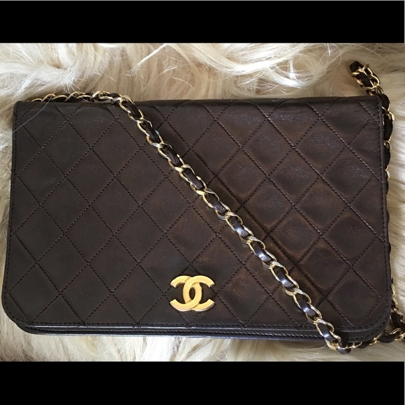 1d92a88d34e951 CHANEL Handbags - Authentic chocolate brown vintage Chanel bag final